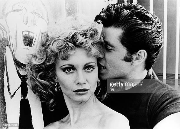Photo of OLIVIA NEWTONJOHN and John TRAVOLTA and GREASE Film still of John Travolta and Olivia Newton John in the film 'Grease'