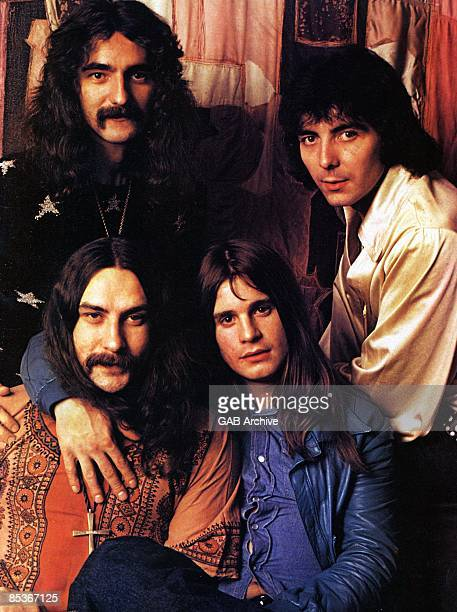 Photo of Ozzy OSBOURNE and BLACK SABBATH LR Geezer Butler Tony Iommi Bill Ward Ozzy Osbourne posed group shot