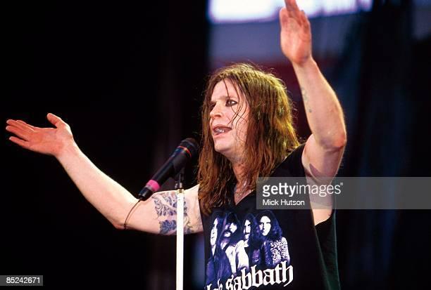 BIRMINGHAM Photo of Ozzy OSBOURNE and BLACK SABBATH performing live onstage with Black Sabbath