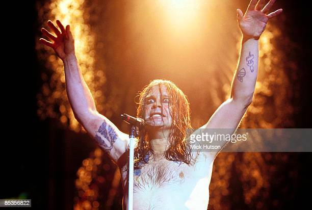 BIRMINGHAM Photo of Ozzy OSBOURNE and BLACK SABBATH performing live onstage with Black Sabbath