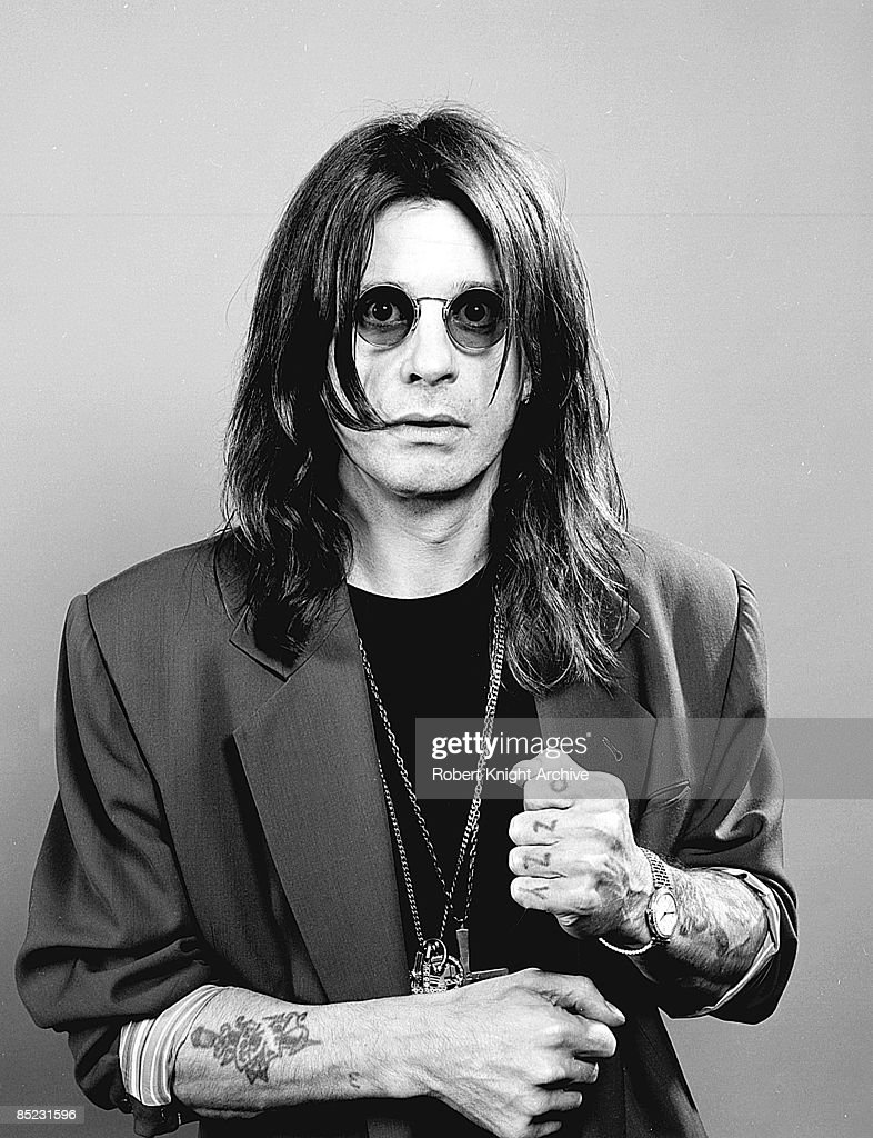 Photo of Ozzy OSBOURNE; posed, studio, at Black Sabbath reunion photo shoot