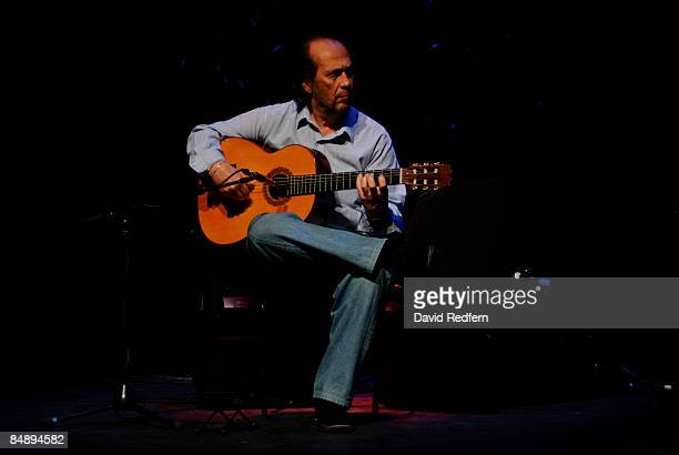 BARBICAN Photo of Paco DE LUCIA Guitarist Paco de Lucia performing on stage as part of the London Jazz Festival