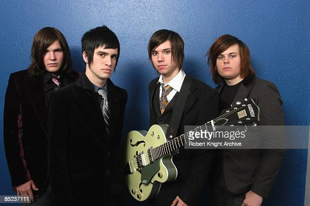 Photo of PANIC AT THE DISCO and PANIC AT THE DISCO and Ryan ROSS and Spencer SMITH and Brendon URIE LR Brent Wilson Brendon Urie Ryan Ross Spencer...