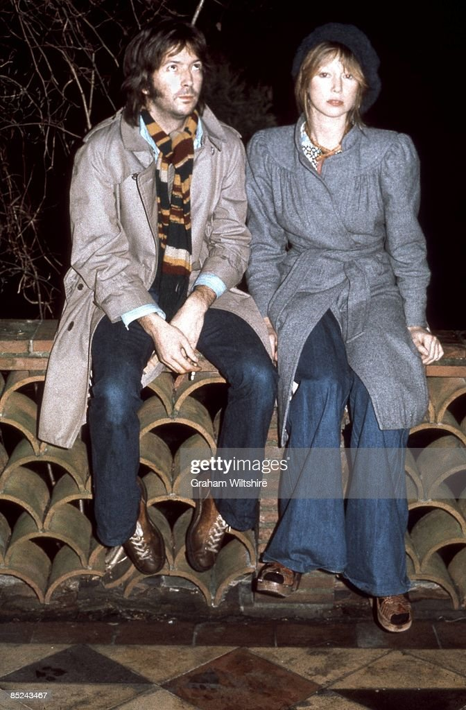 Photo of Patti BOYD and Eric CLAPTON; with Patti Boyd, posed, at home in Ewhurst, Surrey