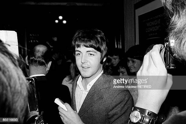 Photo of Paul McCARTNEY and BEATLES Paul McCartney at the opening of 'Midnight Cowboy