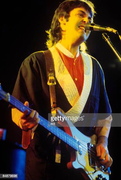 Photo of Paul McCARTNEY and WINGS Paul McCartney performing live onstage c1975