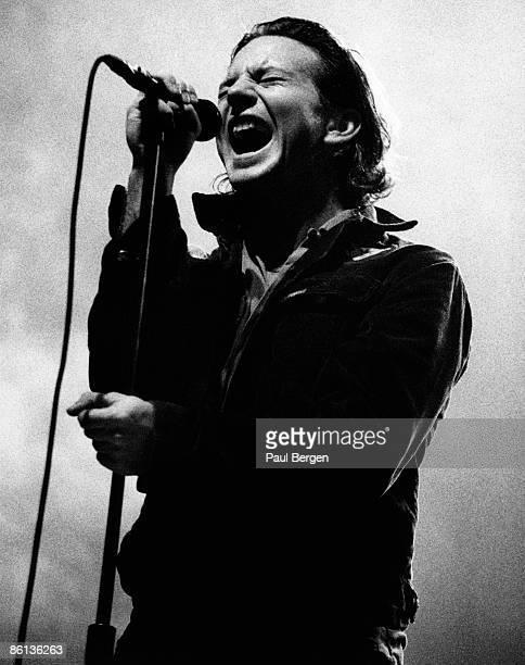 Photo of PEARL JAM and Eddie VEDDER Eddie Vedder performing live onstage