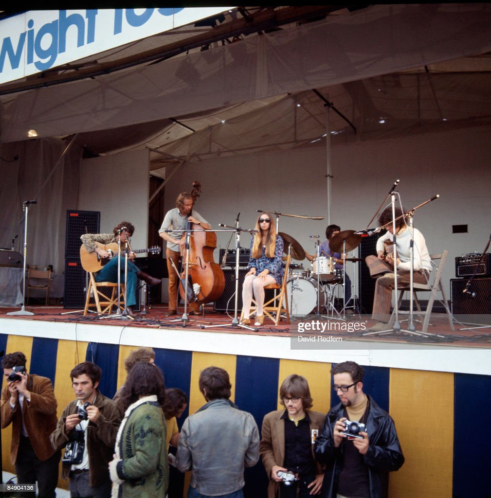 FESTIVAL Photo of PENTANGLE and John RENBOURN and Danny THOMPSON and Jacqui McSHEE and Bert JANSCH, Group performing on stage - John Renbourn, Danny Thompson, Jacqui McShee and Bert Jansch