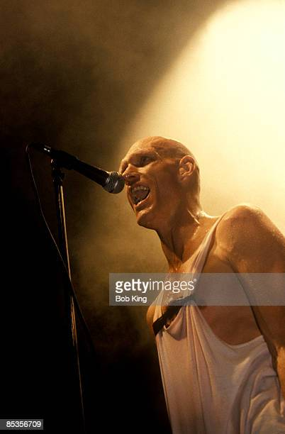 Photo of Peter GARRETT and MIDNIGHT OIL Peter Garrett performing on stage
