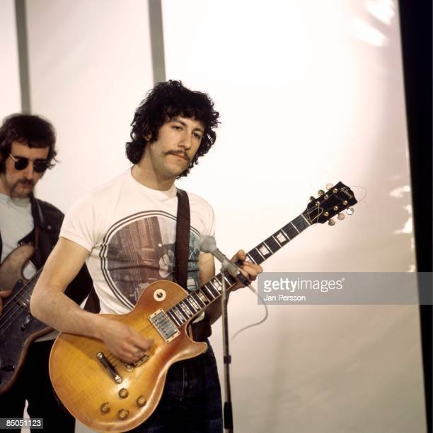 Photo of Peter GREEN and FLEETWOOD MAC Peter Green performing on TV Show playing Gibson Les Paul guitar