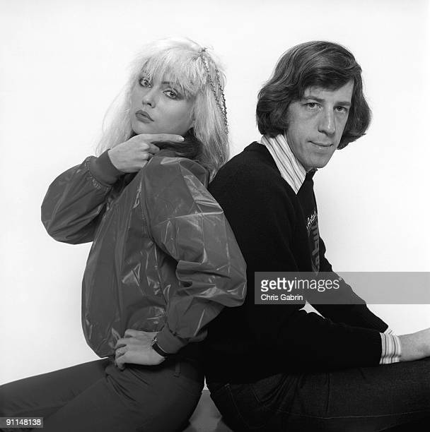 Photo of Peter LEEDS and Debbie HARRY and BLONDIE Debbie Harry w/manager Peter Leeds