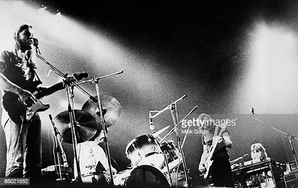 Photo of PINK FLOYD and Rick WRIGHT and Roger WATERS and David GILMOUR LR David Gilmour Nick Mason Roger Waters Rick Wright performing live onstage...