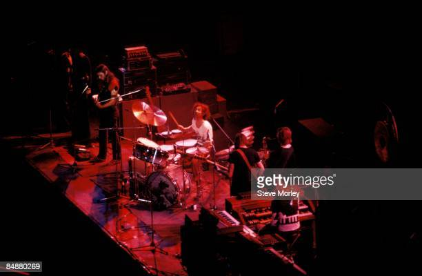 Photo of PINK FLOYD LR Dave Gilmour Nick Mason Roger Waters Dick Parry Rick Wright performing live onstage on Dark Side Of The Moon Tour at SHELTER...