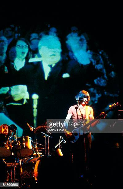 Photo of PINK FLOYD LR Nick Mason Roger Waters performing live onstage on Winter Tour