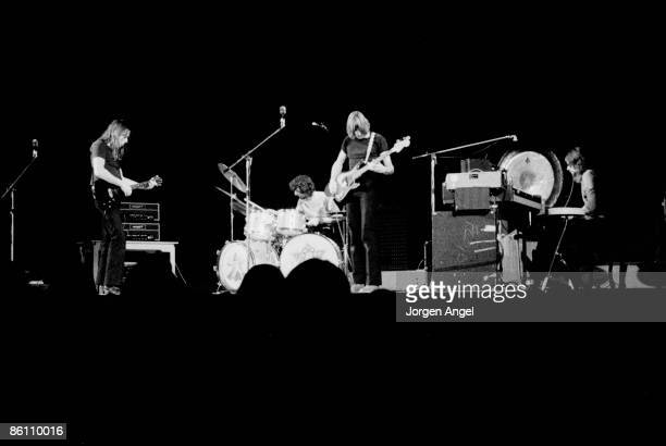 Photo of PINK FLOYD Pink Floyd David Gilmour Nick Mason Roger Waters Rick Wright Falkoner Teateret Copenhagen Denmark Nov70
