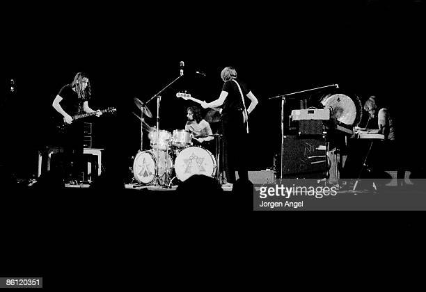 Photo of PINK FLOYD Pink Floyd David Gilmour Nick Mason Roger Waters Rick Wright Falkoner Teateret Copenhagen Denmark Nov70