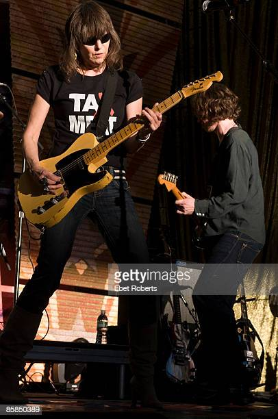 AID Photo of PRETENDERS and Chrissie HYNDE Chrissie Hynde performing on stage
