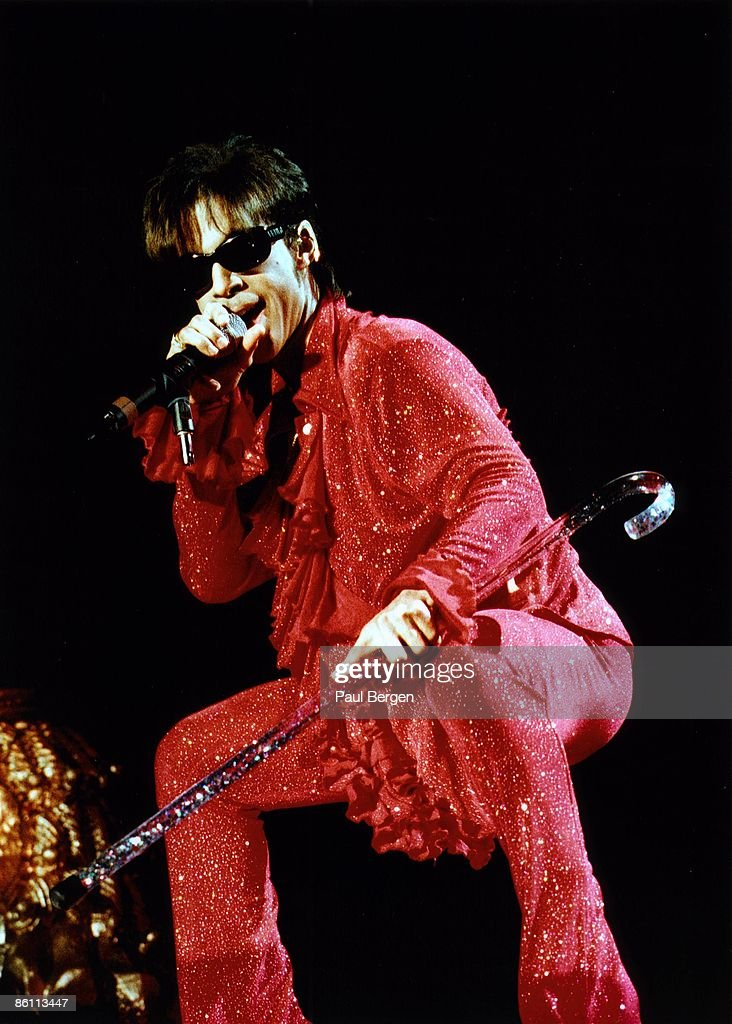Photo of PRINCE; Prince performing on stage - Newpower Soul Tour