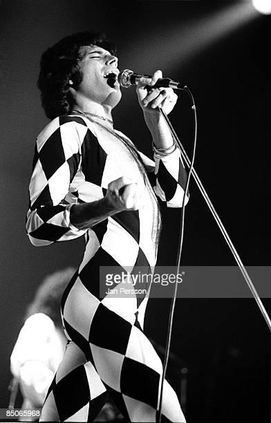 Photo of QUEEN and Freddie MERCURY Freddie Mercury performing live onstage