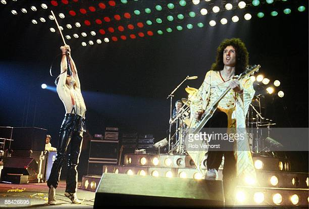 AHOY Photo of QUEEN Freddie Mercury John Deacon Brian May performing on stage