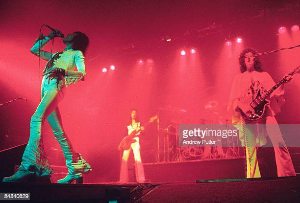ODEON Photo of QUEEN LR Freddie Mercury John Deacon and Brian May performing on stage