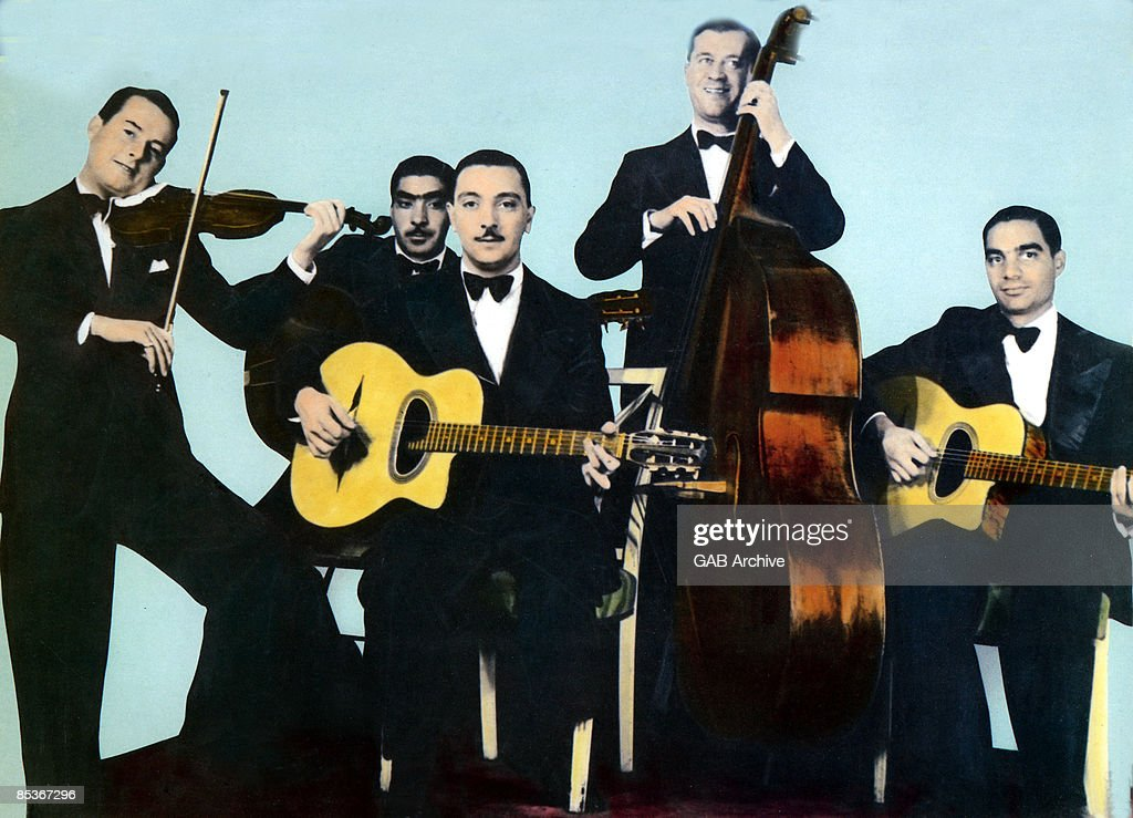 Photo of QUINTETTE DU HOT CLUB DE FRANCE and Django REINHARDT and Stephane GRAPPELLI and HOT CLUB QUINTET FRANCE; with the Hot Club Quintet