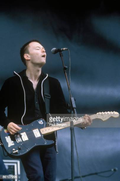 TORHOUT Photo of RADIOHEAD and Thom YORKE Thom Yorke performing live onstage playing Fender Telecaster Deluxe
