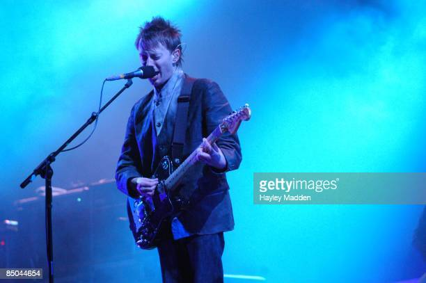 FESTIVAL Photo of RADIOHEAD Thom Yorke performing live onstage