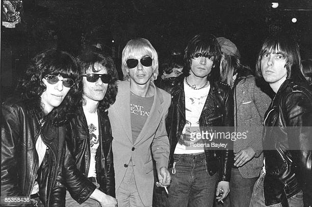 Photo of RAMONES LR Joey Ramone Tommy Ramone Iggy Pop Dee Dee Ramone Johnny Ramone