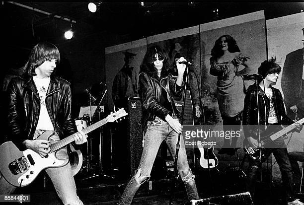 S Photo of RAMONES LR Johnny Ramone Joey Ramone Dee Dee Ramone l