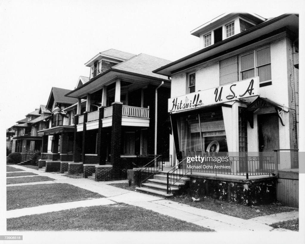Photo of Record Companies Motown Records Detroit Mi circa 1965