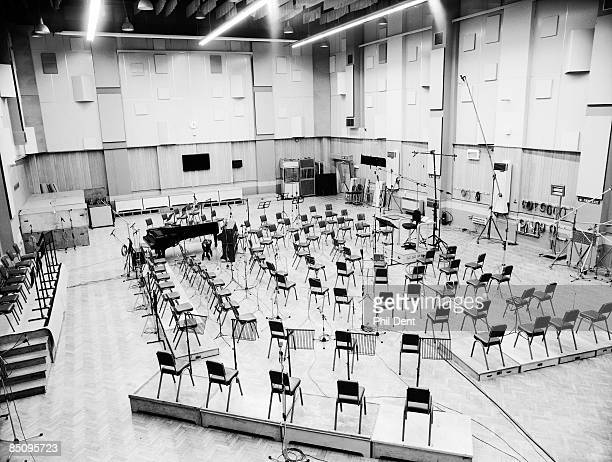 STUDIOS Photo of RECORDING STUDIO and ABBEY ROAD Inside Abbey Road Studio Chairs set up in Studio 1