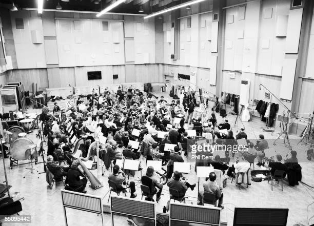 STUDIOS Photo of RECORDING STUDIO and LONDON SYMPHONY ORCHESTRA and ABBEY ROAD Inside Abbey Road Studio London Symphony Orchestra recording in Studio...