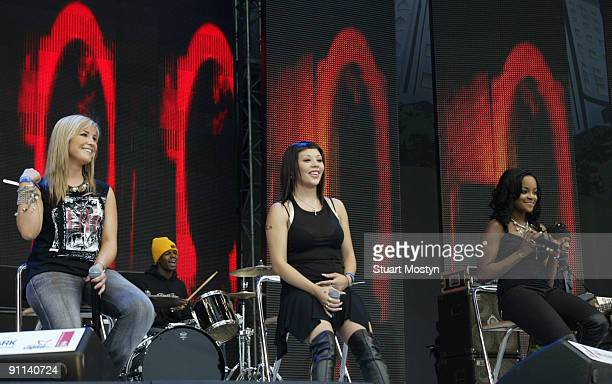 PARK Photo of REF PARTY IN THE PARK 2003/STUART MOSTYN Sugababes perform in a group shot live on stage at the Capital FM Princes Trust ' Party in the...