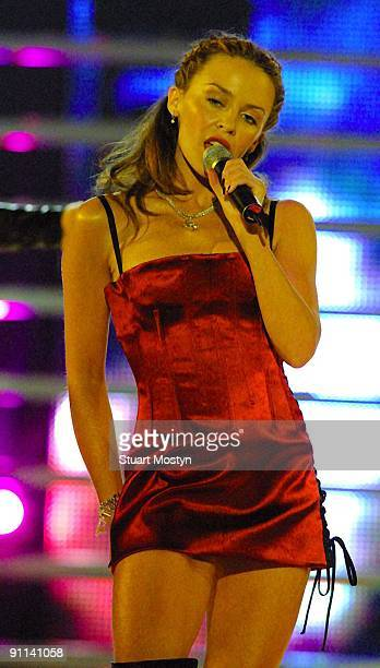 AWARDS Photo of REF54281 Kylie Minogue live on stage at the World Music Awards in Monte Carlo