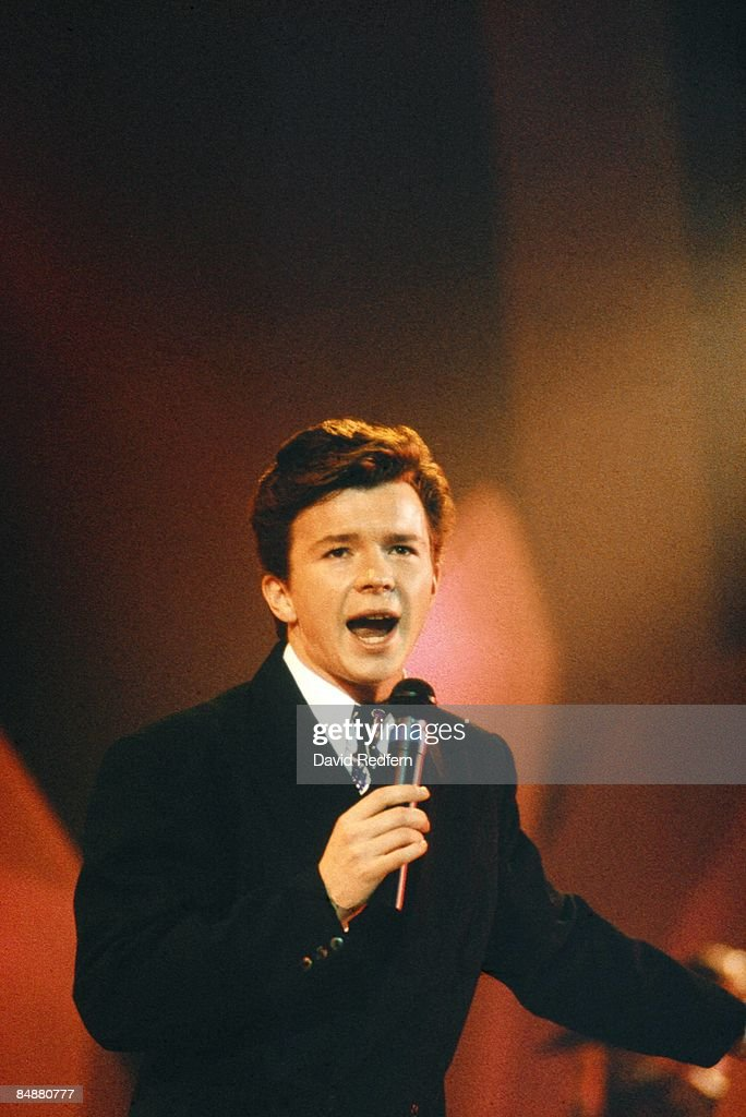FESTIVAL Photo of Rick ASTLEY performing live on stage circa 1987.