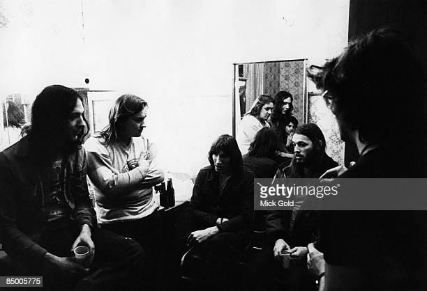 BIRMINGHAM Photo of Rick WRIGHT and David GILMOUR and Roger WATERS and PINK FLOYD Robbie Williams Mick Kluczinsky Roger Waters Rick Wright David...