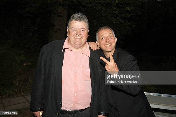 Photo of Rik MAYALL and Peter RICHARDSON and Robbie COLTRANE LR Peter Richardson Rik Mayall