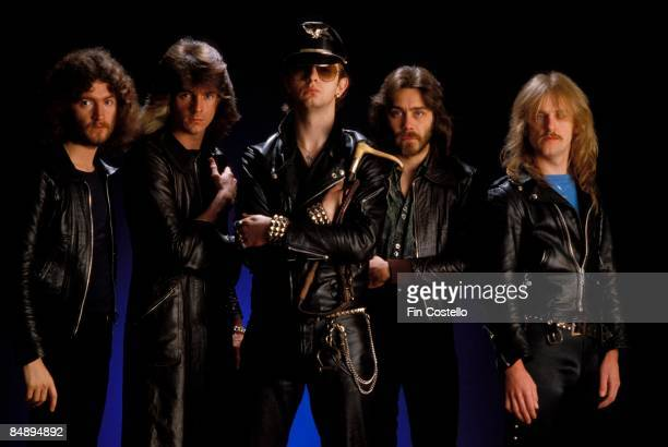 CAMDEN Photo of Rob HALFORD and Les BINKS and KK DOWNING and JUDAS PRIEST and Ian HILL and Glenn TIPTON LR Les Binks Glenn Tipton Rob Halford Ian...