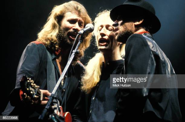 Photo of Robin GIBB and BEE GEES and Barry GIBB and Maurice GIBB LR Barry Gibb Robin Gibb Maurice Gibb