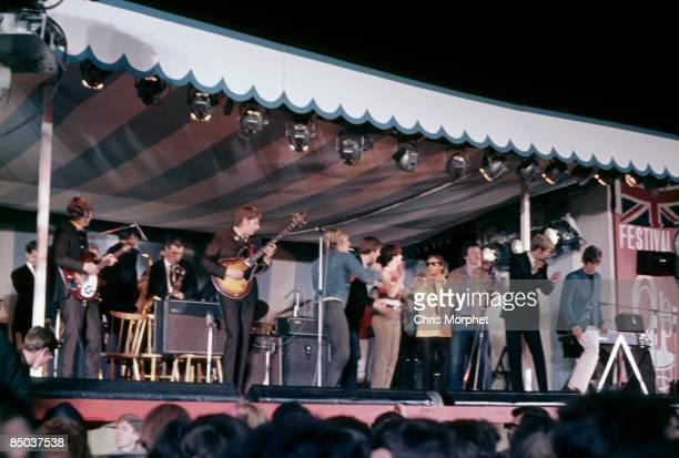 FEST Photo of Rod STEWART and ANIMALS and Long John BALDRY the Animals performing live onstage with Long John Baldry Rod Stewart