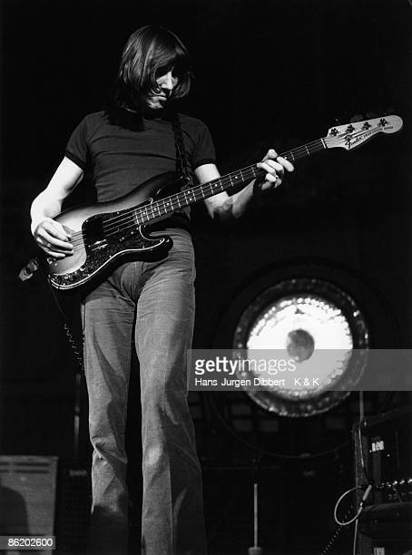 Photo of Roger WATERS and PINK FLOYD Roger Waters performing live onstage playing Fender Precision Bass guitar Photo HJ Dibbert