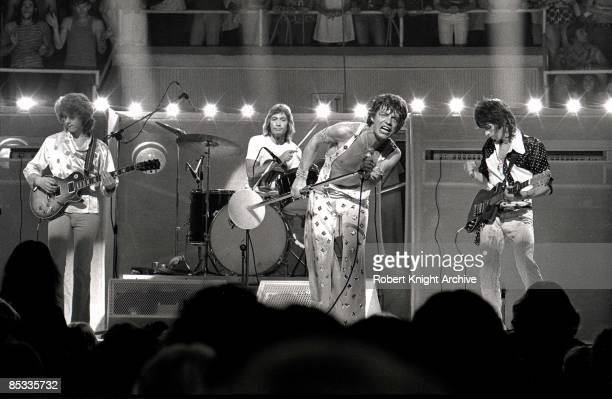 HONOLULU Photo of ROLLING STONES and Mick JAGGER and Keith RICHARDS and Mick TAYLOR and Charlie WATTS LR Mick Taylor Charlie Watts Mick Jagger and...