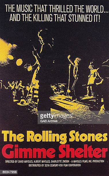 Photo of ROLLING STONES Film poster for Gimme Shelter