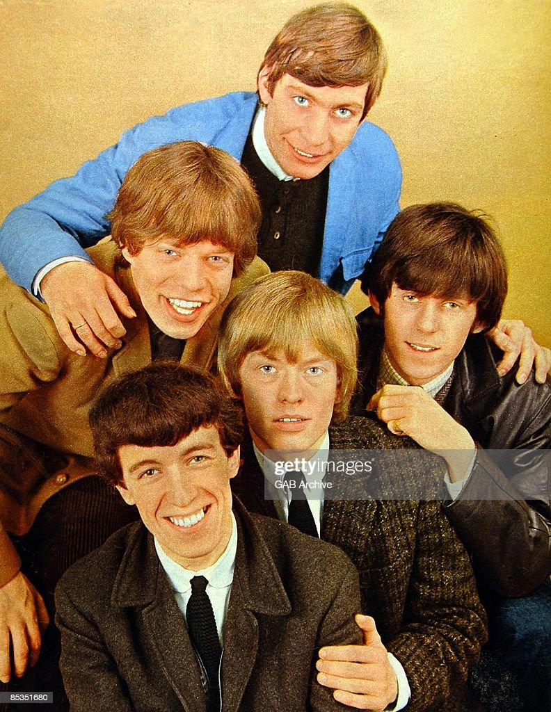 Photo of ROLLING STONES Group portrait Clockwise from bleft Bill Wyman Mick Jagger Charlie Watts Keith Richards and Brian Jones