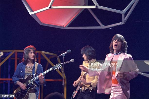Mick Taylor Keith Richards Mick Jagger performing on Top Of The Pops TV Show