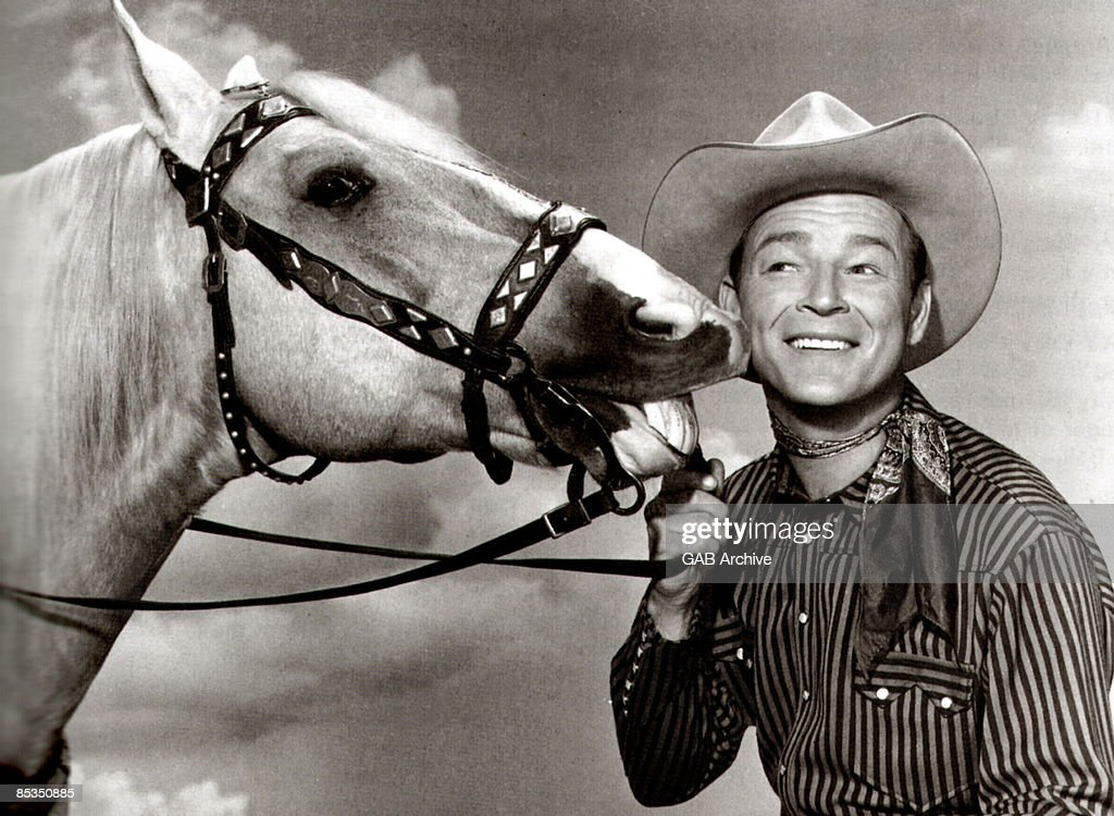 Photo of Roy ROGERS Portrait with Trigger the horse