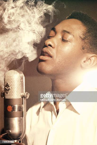Photo of Sam Cooke 1959 California Los Angeles RCA Recording Studio Sam Cooke