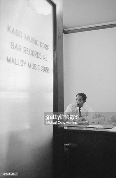 Photo of Sam Cooke 1961 California Hollywood 6425 Hollywood Boulevard Sam Cooke at KAGS Music CorpSAR Records