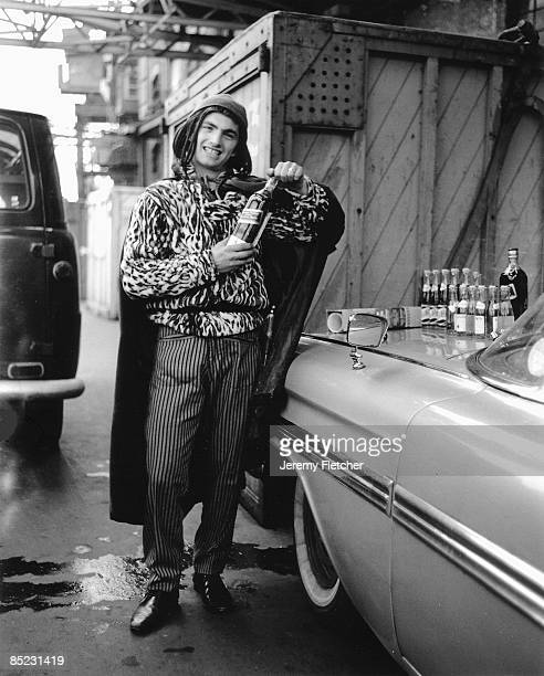 Photo of Screaming Lord SUTCH About to board his first pirate radio station 'Cornucopia' Tower Bridge